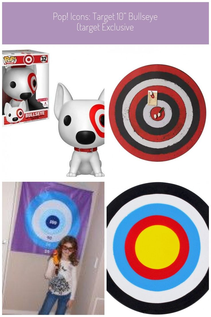 "bullseye target POP! Icons Target 10"" Bullseye Toys in"