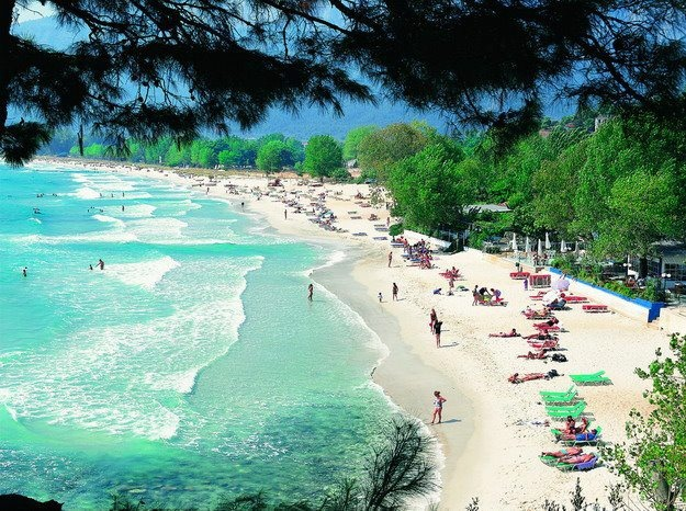 Thassos Island, N Aegean Sea Greee-Chrisi Ammoudia-Golden Sand Beach