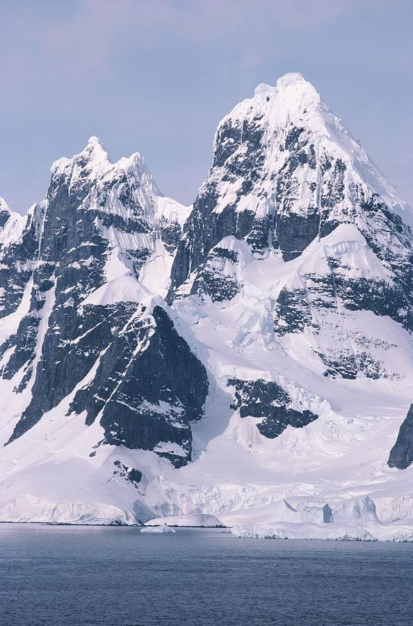 Snow-covered Mountains On Wienke, Antarctica