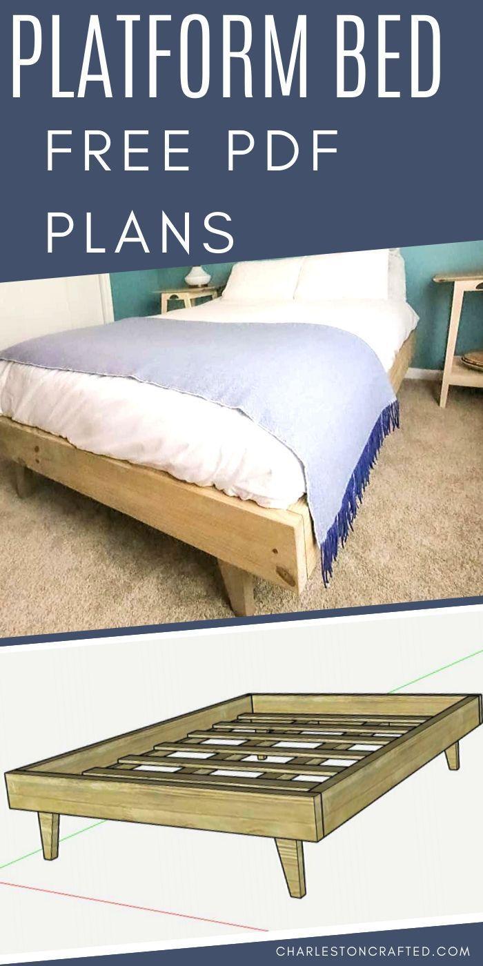 How To Build A Platform Bed For 50 Build A Platform Bed Diy Furniture Bedroom Platform Bed Plans