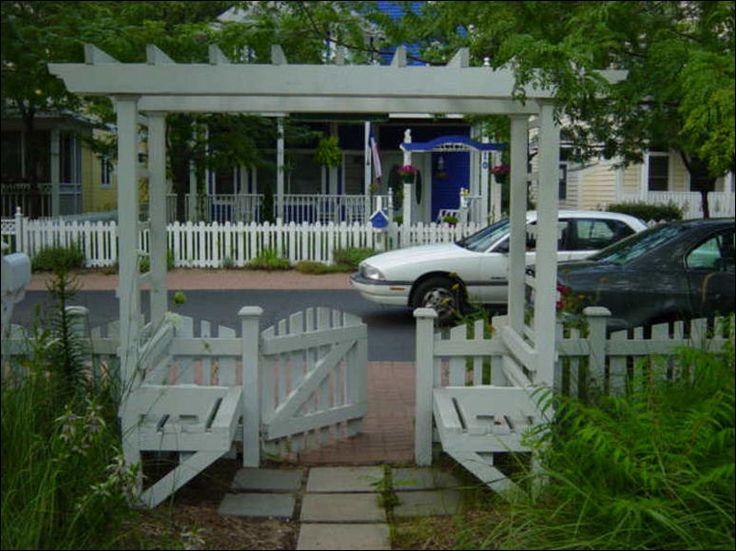 Garden Arbor with bench and gate garden Pinterest