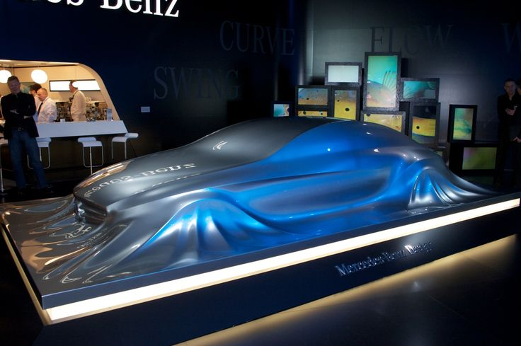 """Mercedes-Benz is showing off a new concept at this week's 2010 Detroit Auto Show, however, the latest design piece from the luxury automaker isn't just a new car, so to speak, but a new sculpture. Labeled the """"Rising Car,"""" the fluid sculpture depicts a vehicle rising gently from a level..."""