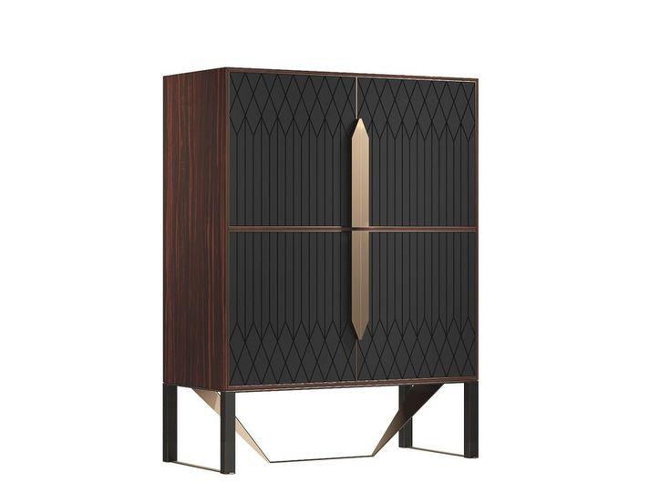Solid wood highboard with doors PRISMA | Highboard by Capital Collection