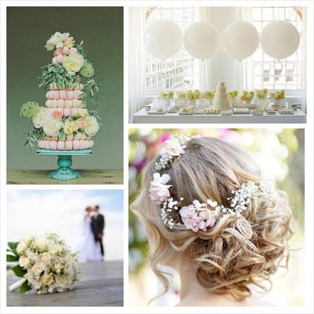 Inspiration mariage coiffure chignon - Bouquet de table pour mariage ...