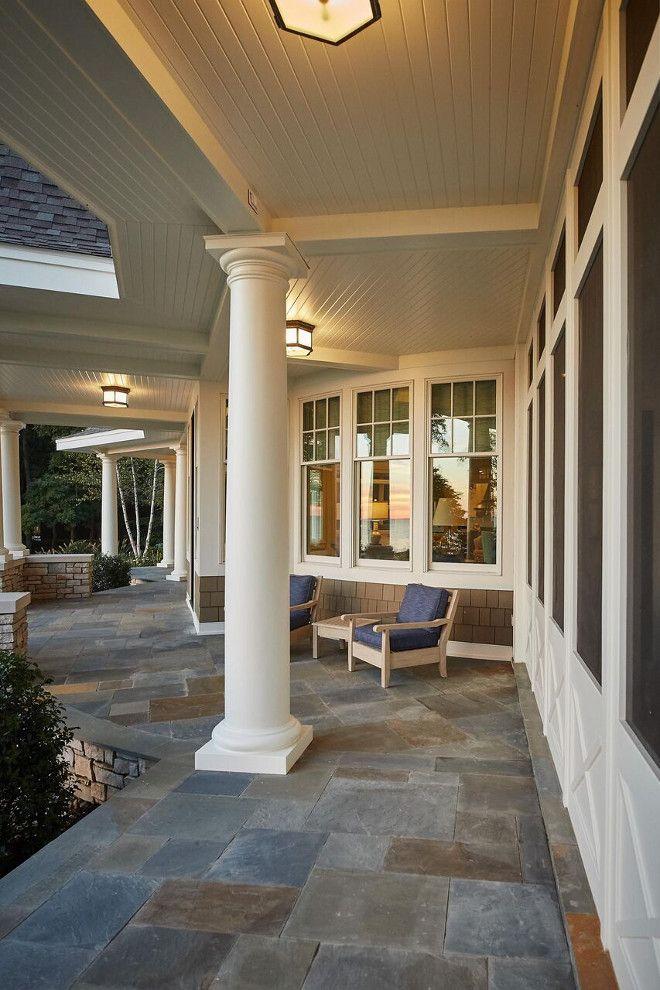 durable bluestone patioporch tile this might look good with our grey brick - Patio Floor Designs