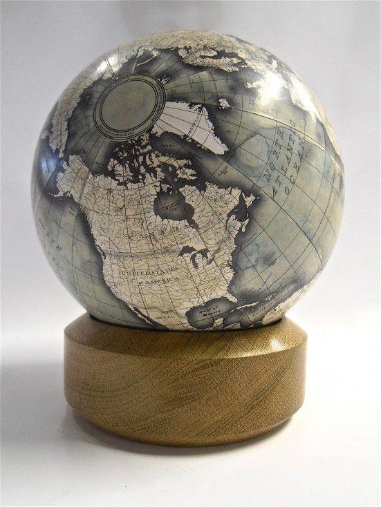 Awesome globe design by Peter Bellerby http://www.bellerbyandco.com/ Handmade, bespoke, custom mini desk globe. Globes, world globe, antique globe, modern globe, handmade globe, bespoke globe, best globe, hand painted, earth, globetrotter, globetrekker, golden globes, the world, bellerby and co.