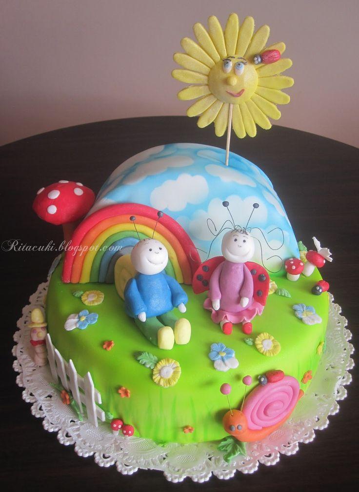 bogyo és baboca torta | Kisfiam 3. szülinapjára készitettem ezt a tortát.