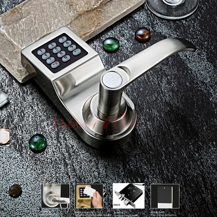 110.81$  Buy here - http://ali099.worldwells.pw/go.php?t=32514500562 - NED High security Electronic Induction Smart Digit Code Keypad Entry Door Lock With ID Reader Right Handle  And Card Unlock 110.81$
