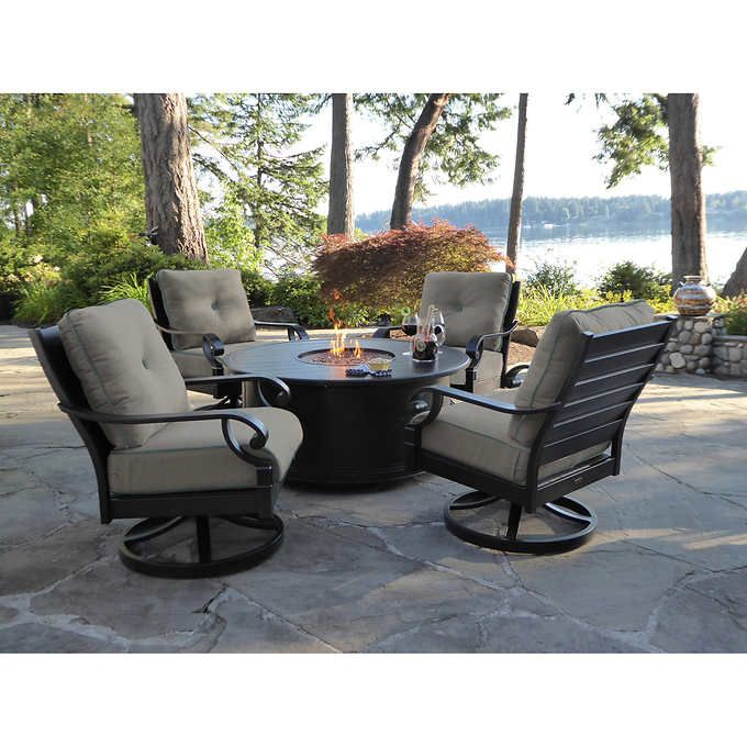 Verena 5 Piece Fire Chat Set With