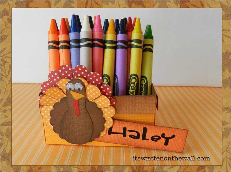 Freebie Thanksgiving Turkey Crayon Holder And Place Card