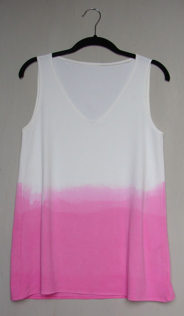 bamboo and cotton pink dip dyed vest