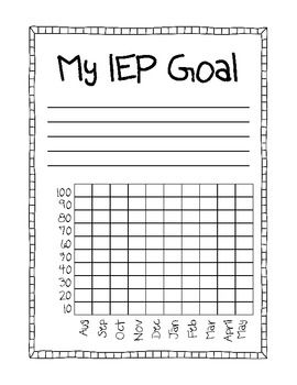 IEP Goal - Student Data - Kayla Meikle - TeachersPayTeachers.com