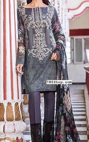 80def9da6c Dark Grey Lawn Suit | Buy Iznik Pakistani Dresses and Clothing online in  USA, UK