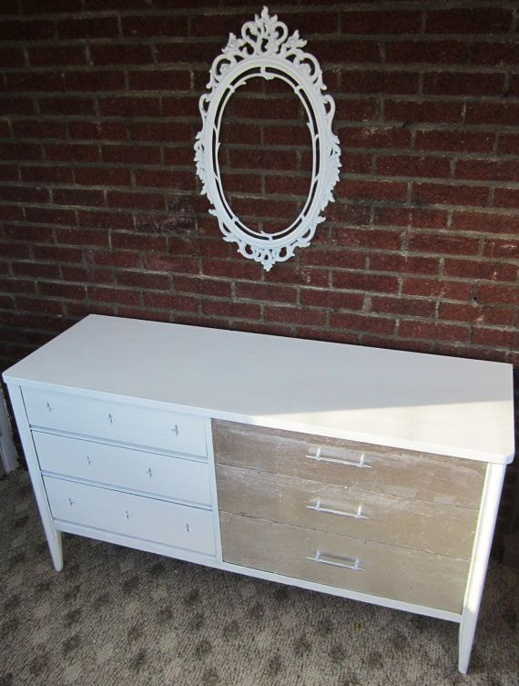 Best Mod White Dresser With Silver Leaf From Broyhill By 400 x 300