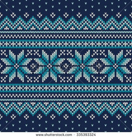 Festive and Fashionable Sweater Design. Seamless Knitted Pattern - stock vector