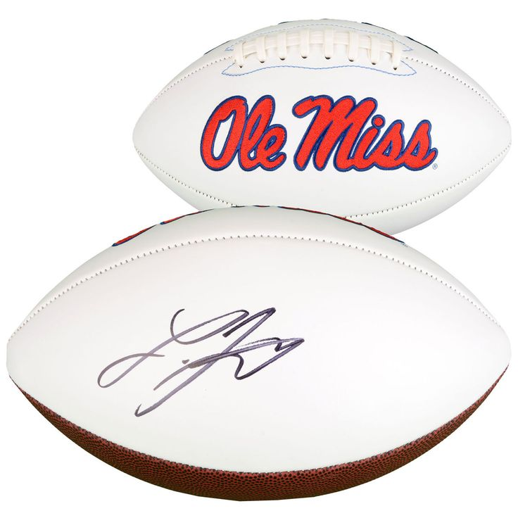 Laquon Treadwell Ole Miss Rebels Fanatics Authentic Autographed White Panel Football - $71.99