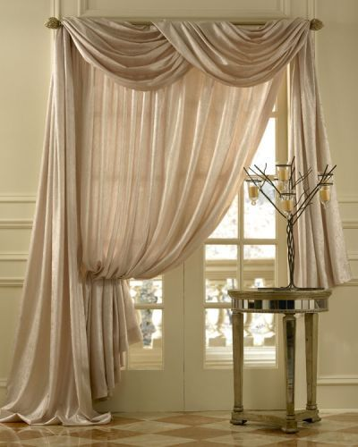 using a window scarf | Amalfi Sheer Scarf Curtain Swag Window Topper available in 6 colors