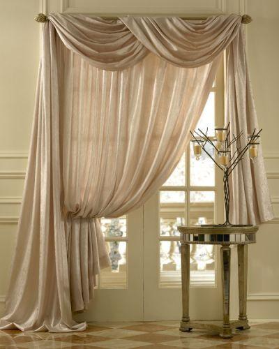sheer silk swag curtains | Geneva Scroll Linen Blend, Semi-sheer Scarf Swag Window Topper