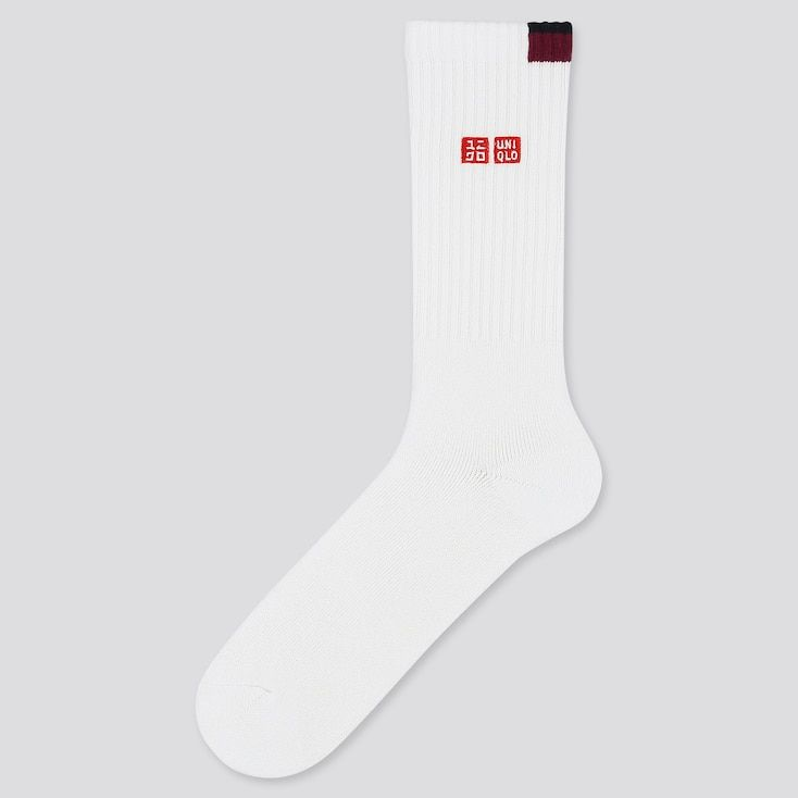Men Tennis Socks Roger Federer 20aus In 2020 Tennis Socks Socks Uniqlo Men