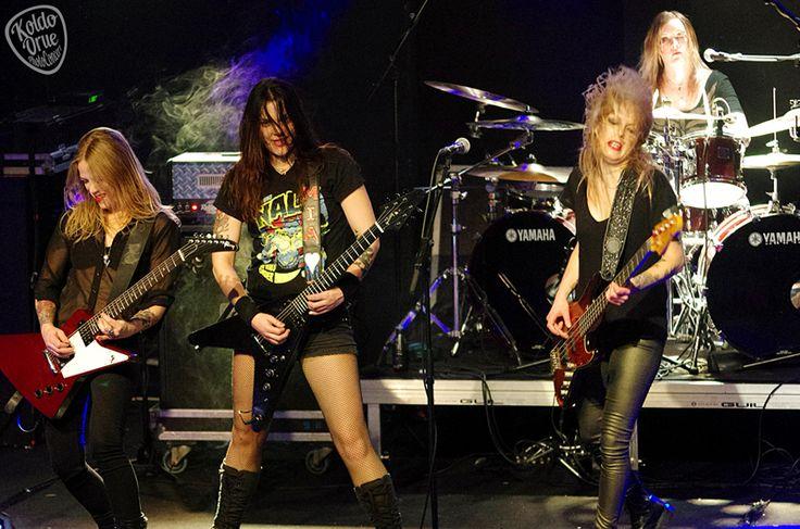 Crucified Barbara, banda feminina de Hard Rock da Suécia, fundada em 1998. e infelizmente terminou em 2016