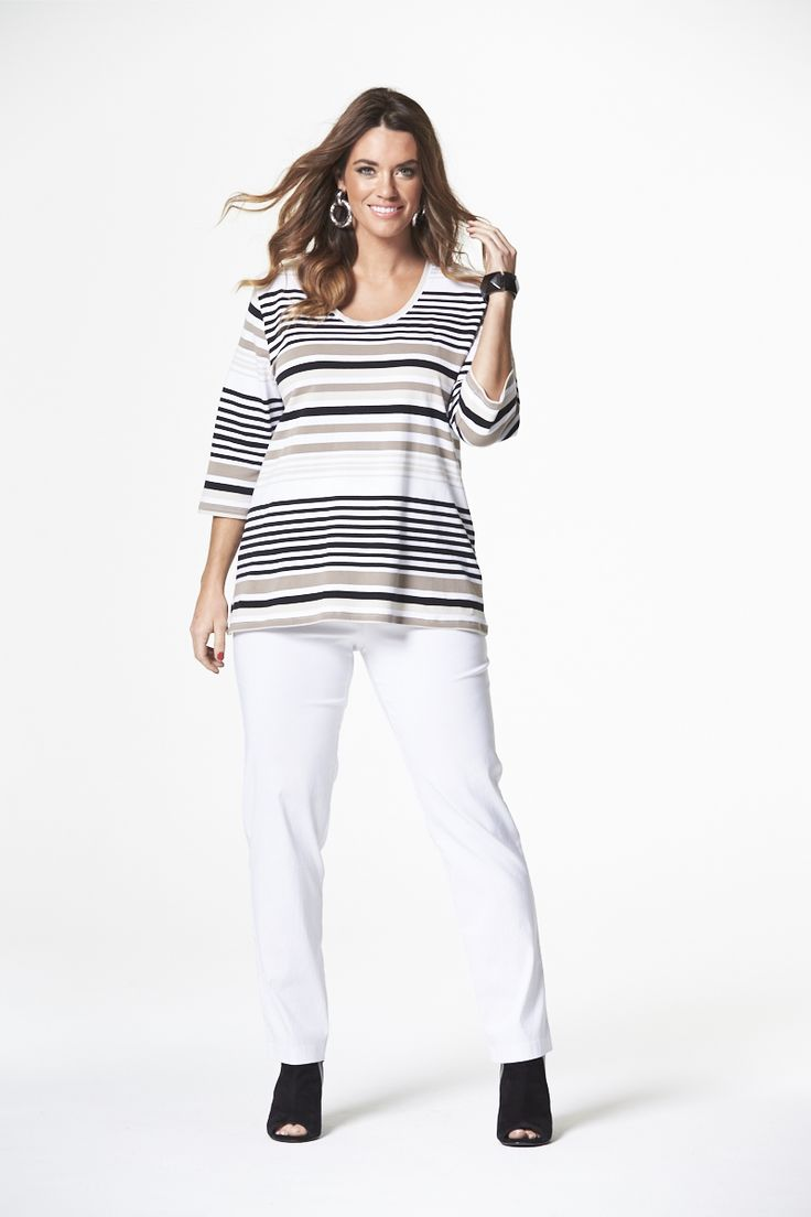 The Naturals Striped Tee  #mysize #plussize #fashion #plussizefashion #spring #newarrivals #outfit