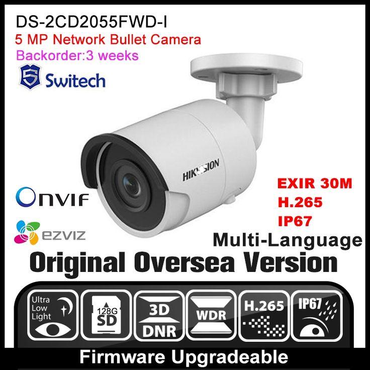 104.00$  Watch now - HIKVISION DS-2CD2055FWD-I Original English Version IP camera 5MP CCTV Camera POE Network camera P2P H.265 Onvif IPC  HD HIK  #magazineonlinewebsite