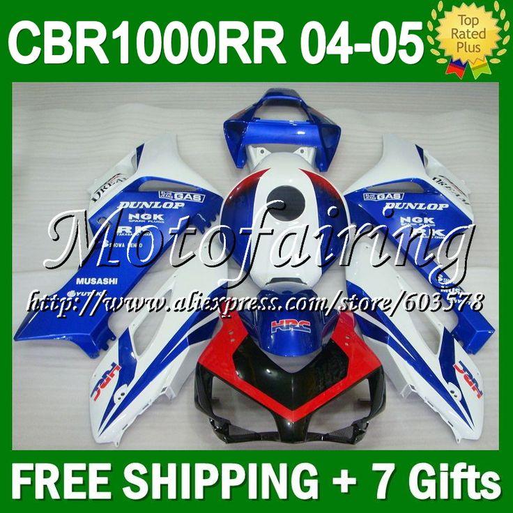 7 подарки + капот на HONDA синий красный CBR1000RR 04 05 CL794 цб рф 1000 1000RR синий белый красный CBR1000 RR 2004 2005 зализа тела