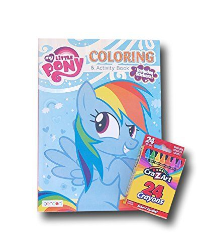 My Little Pony Jumbo Coloring and Activity Book with Stickers and Crayons @ niftywarehouse.com #NiftyWarehouse #MyLittlePony #Cartoon #Ponies #MyLittlePonies