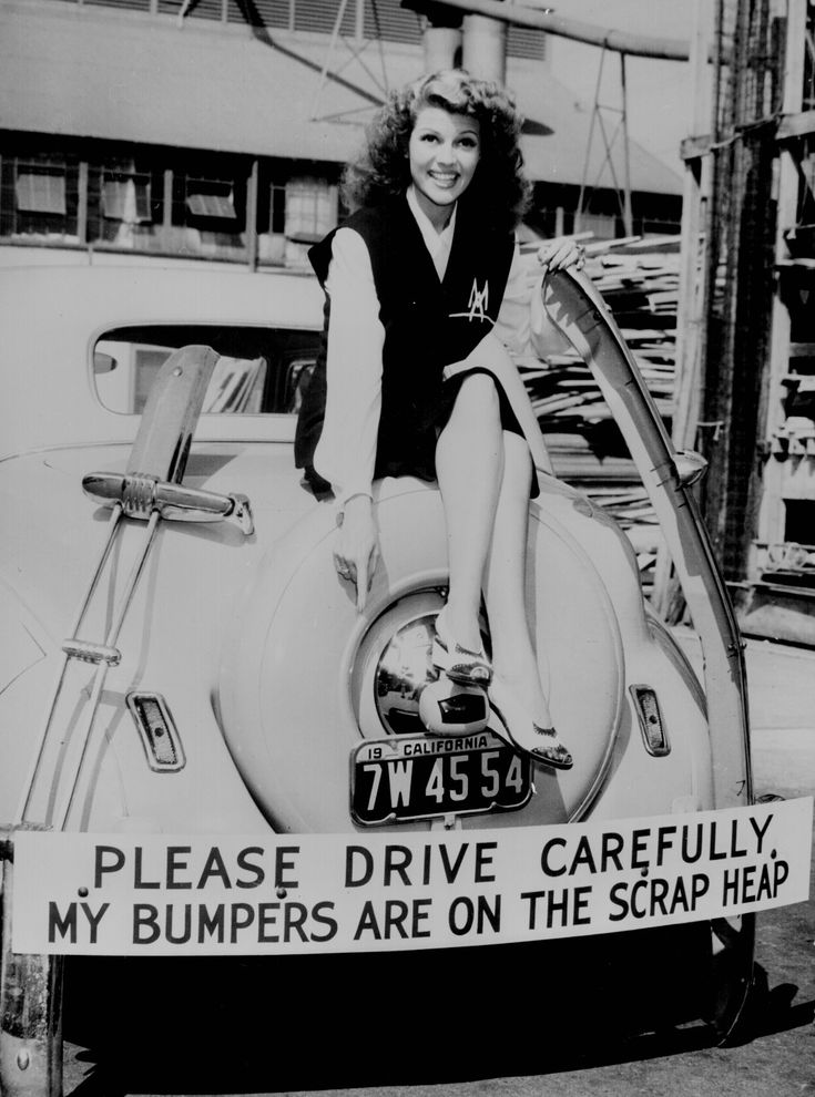"""Harvesting bumper crop for Uncle Sam."" Movie star Rita Hayworth sacrificed her bumpers for the duration of the war."
