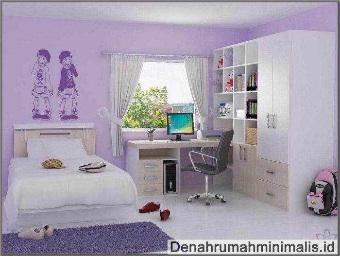Desain Kamar Tidur Anak Perempuan  desain kamar tidur anak perempuan minimalis sederhana untuk remaja]