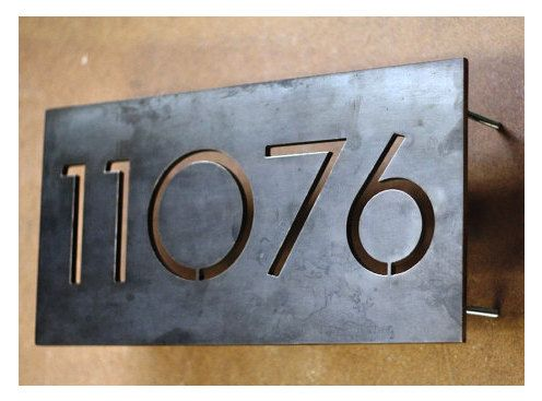 Modern House Numbers Centered 5 Numbers by austinoutdoor on Etsy, $125.00