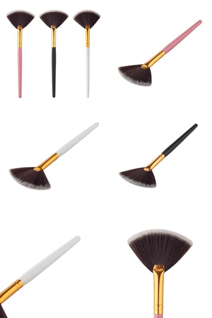 [Visit to Buy] 2017 Professional Makeup brushes 15cm Artificial Fiber Fan brush Powder Foundation Make up brushes korean Pincel maquiagem #Advertisement