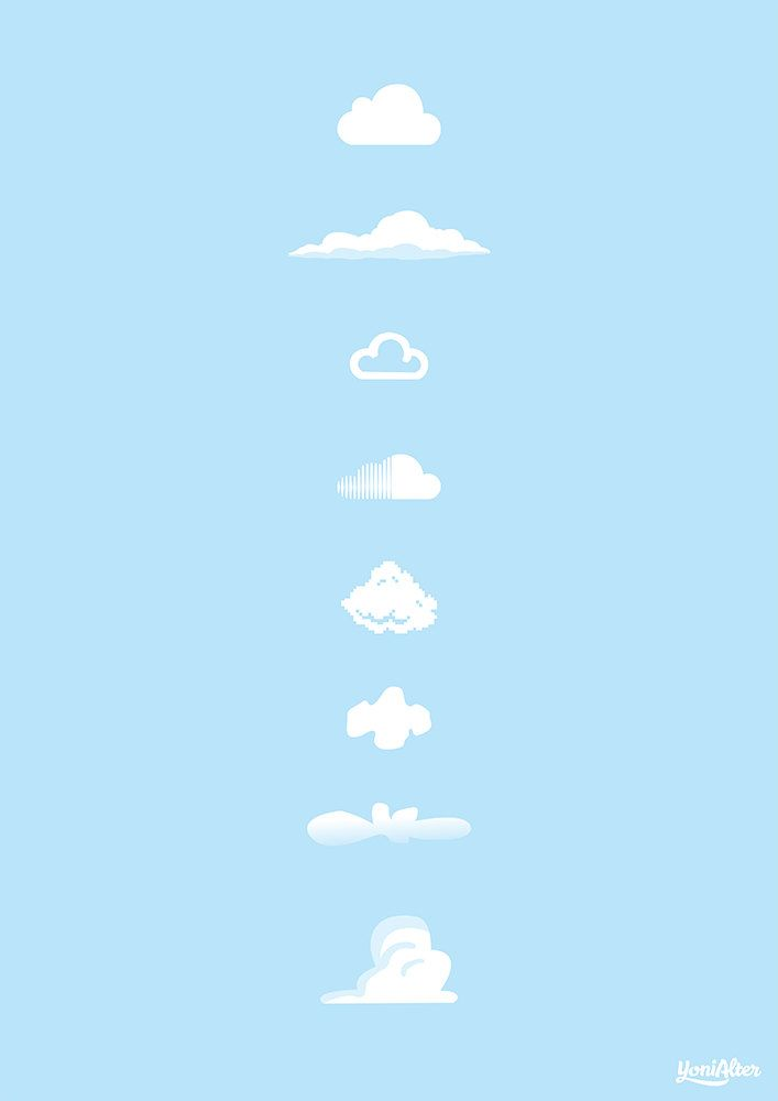 Famous Clouds art print. £25,00, via Etsy.