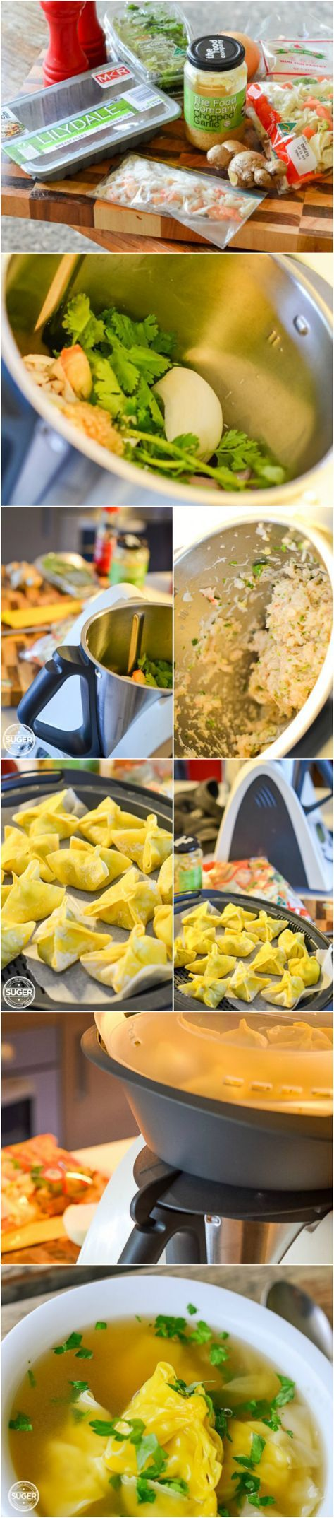Simple Home Made Thermomix Won Ton Soup #easy #family #soup #dinner #meal