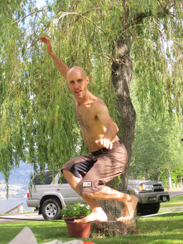 Slacklining is my favorite way to enjoy a little mindful breathing. Every home should have one!