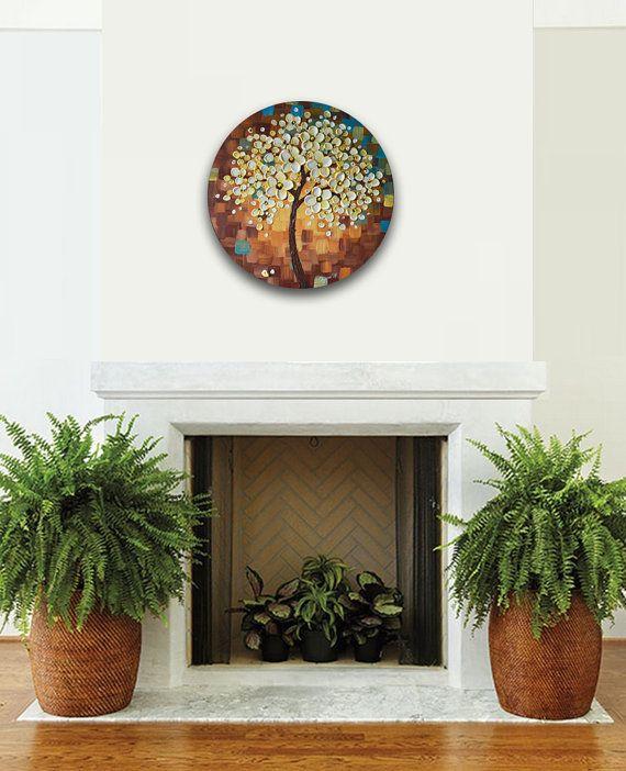 Arte del fiore di ciliegia albero del fiore pittura di ZarasShop