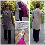 Одежда ручной работы. Ярмарка Мастеров - ручная работа Пальто с цветной подкладкой. Handmade.