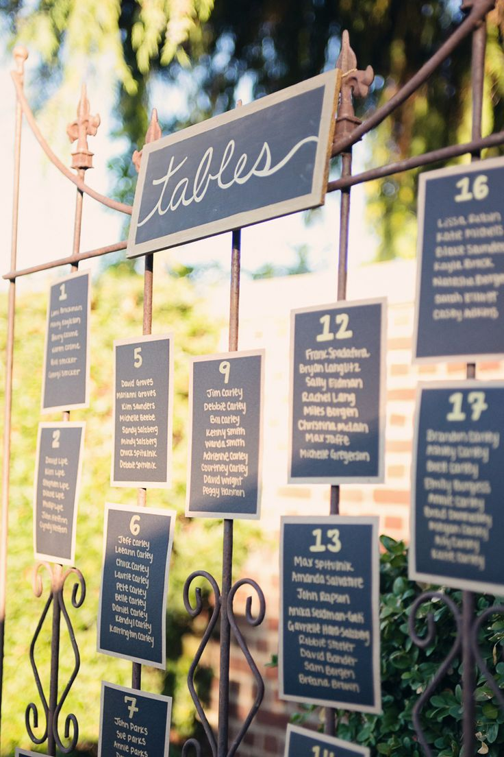 Wedding Details -- Seating Charts -- Wedding with lots of charm and plenty of DIY goodness! On http://www.StyleMePretty.com/northwest-weddings/2014/04/01/romantic-tacoma-wedding-of-high-school-sweethearts/ AlantePhotography.com