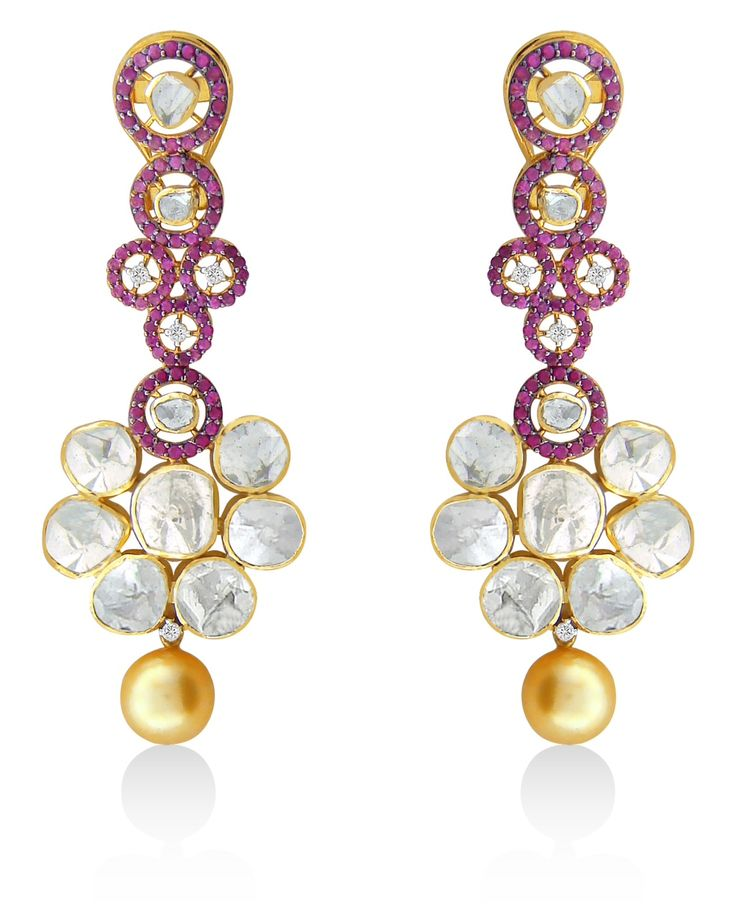 Be it fancy or costume, nothing can add oomph to your wardrobe than a stunning pair of #Diamond Earrings. #Jaipur