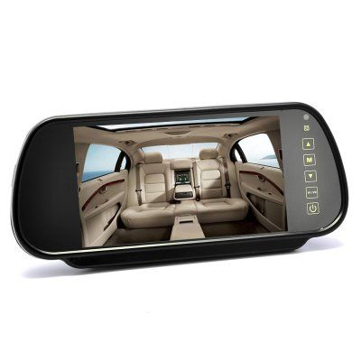 Wholesale 7 Inch Rearview Mirror Monitor - Touch Button Control, 4:3 Ratio, 480x234
