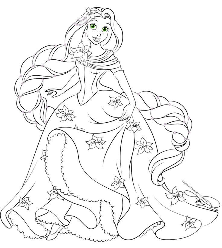 Lineart - Glamorous Fashion Rapunzel by selinmarsou on deviantART