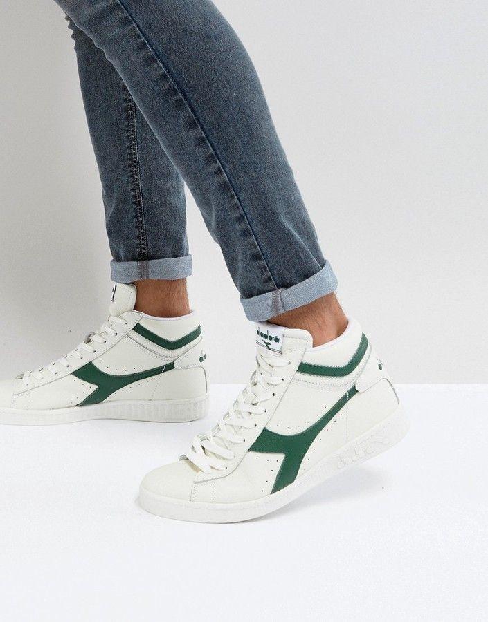 Diadora Game L High Sneakers In White Schoenen