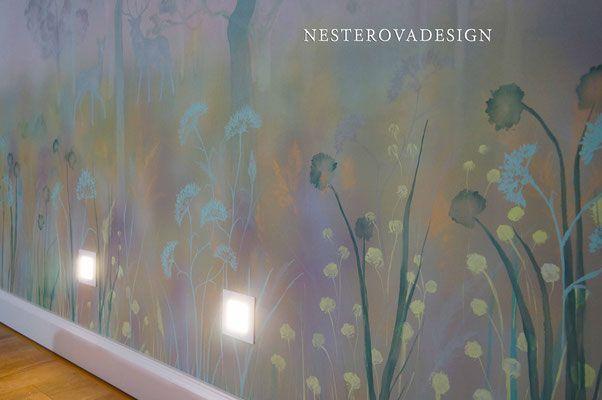 Картинки по запросу роспись стен лес