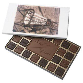 Piano bench assorted chocolates