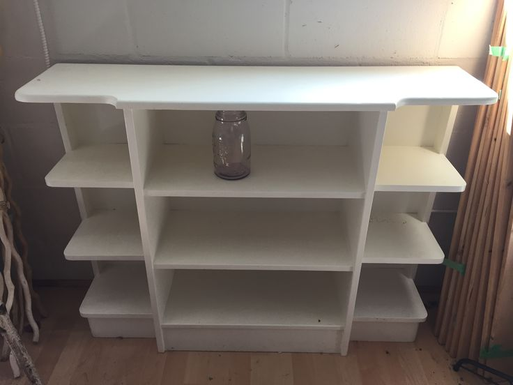 Painted cream white shelf $150
