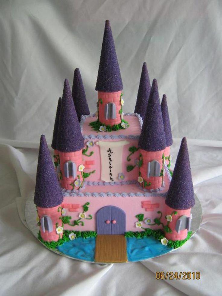 91 best castle cake images on pinterest | princess castle cakes