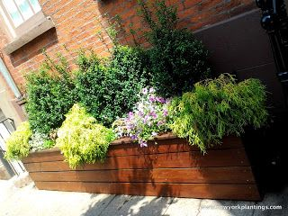 New York Plantings Garden Designers Manhattan Feat: 10-Feet Custom Planter Box. #customplanterboxdesign #customplanterboxordernyc http://www.newyorkplantings.com/CustomPlanters.php