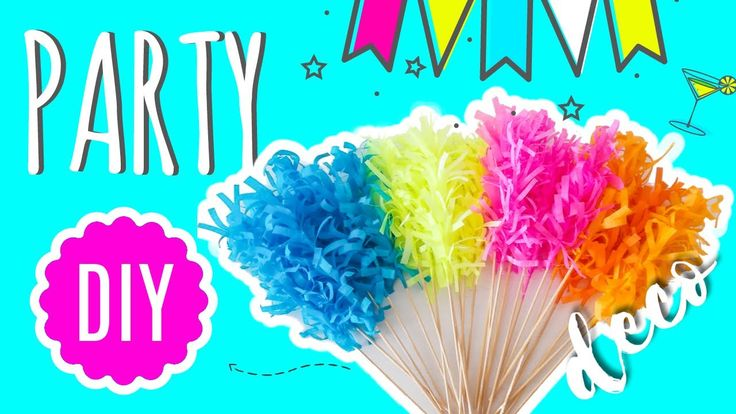 Party DIY Deco that takes less than 2 minutes. How to make a deco for co...