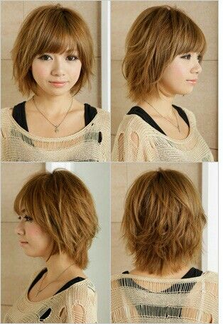Sensational 1000 Ideas About Layered Bob Bangs On Pinterest Bob Bangs Hairstyle Inspiration Daily Dogsangcom