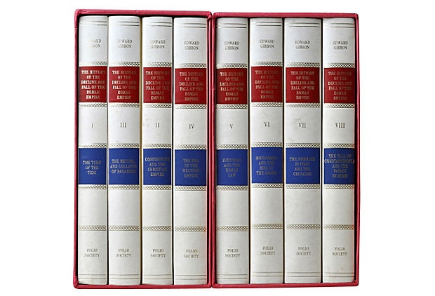 S/8 Folio Society History Book Set on OneKingsLane.com